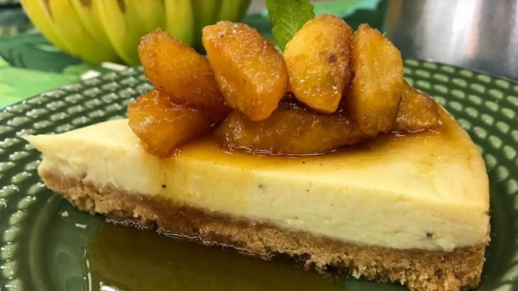 Receita do Cheesecake de Banana da Ana Maria Braga