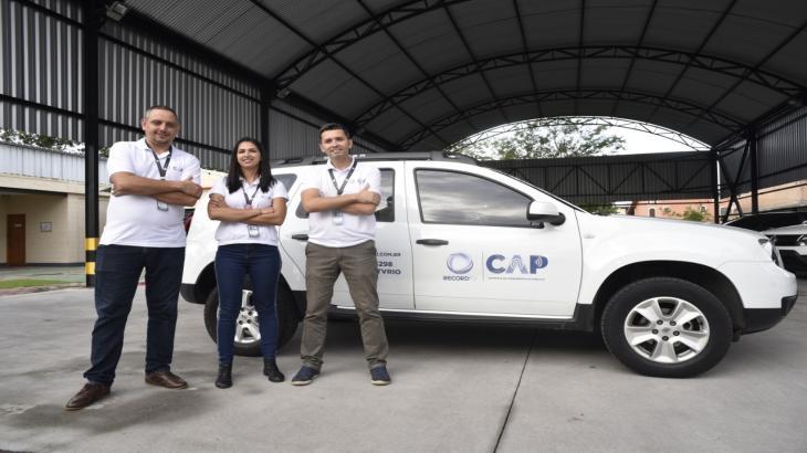 Equipe da CAP (Controle de Atendimento ao Público) da Record Rio.