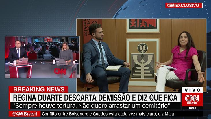 Regina Duarte, secretária especial de Cultura
