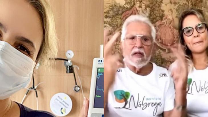 Internada com Covid-19, mulher de Carlos Alberto de Nóbrega revela seu estado de saúde