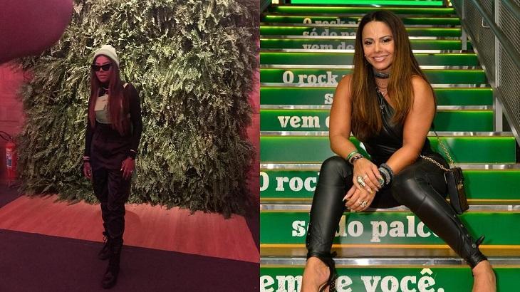 Ludmilla e Viviane Araújo aproveitaram a noite no Rock in Rio. Foto: Montagem