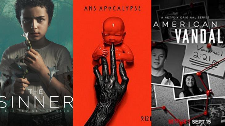 American Horror Story, The Sinner e American Vandal estão fora do Emmy. Foto: Montagem