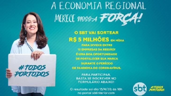 SBT Interior lançou promoção para ajudar empresários a divulgarem suas marcas - Foto: Divulgação