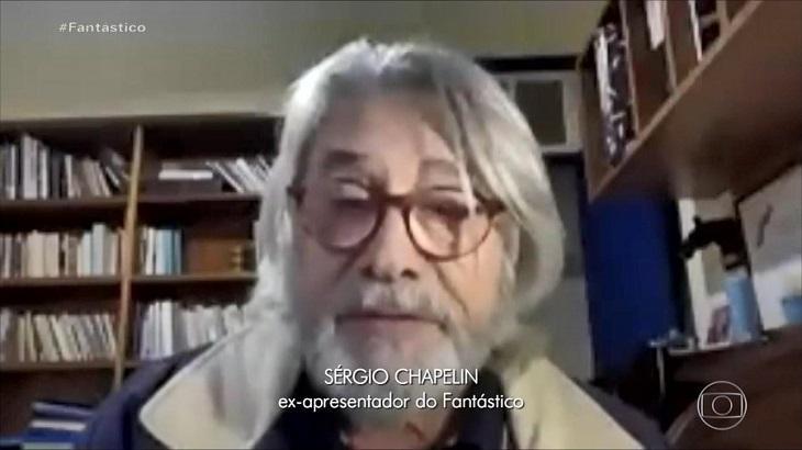 Sérgio Chapelin apareceu irreconhecível no Fantástico - Foto: Divulgação