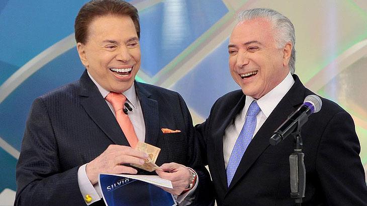 Resultado de imagem para Silvio e Temer no SBT