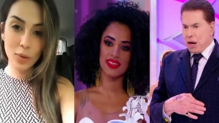 Juliani Fernandes, Jennyfer Oliver e Silvio Santos