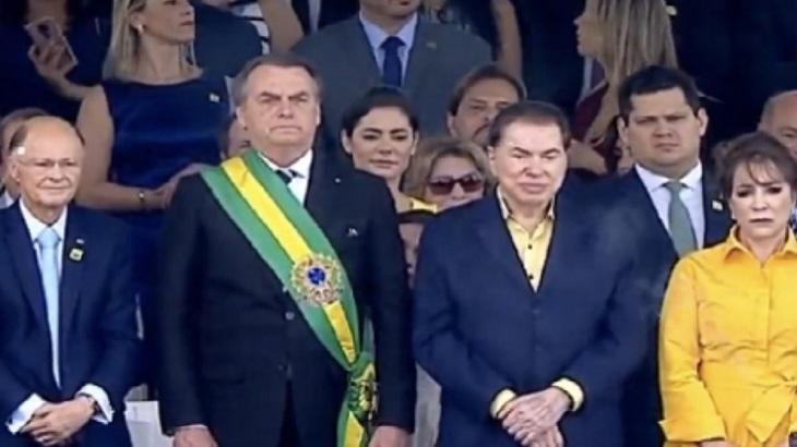 Desfile de 07 de setembro teve Silvio Santos e Edir Macedo ao lado de Jair Bolsonaro. Foto: Reprodução