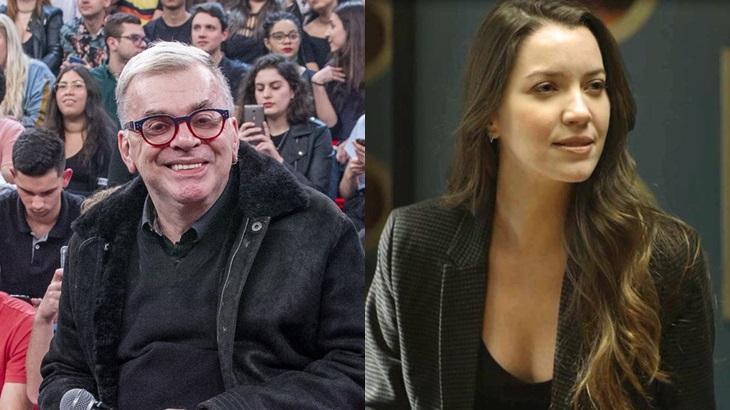 Walcyr Carrasco e Fabiana: autor da trama das 21h desmentiu suposto assassinato - Foto: Reprodução