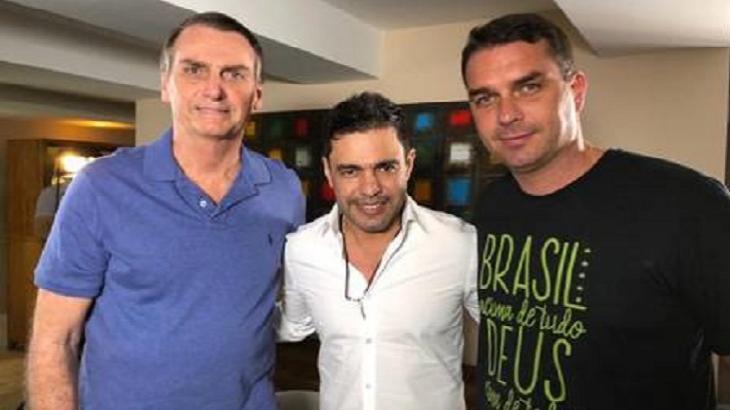 Zezé Di Camargo já posou várias vezes em foto com Jair Bolsonaro e família. Foto: Divulgação