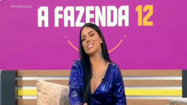 MC Mirella participou do programa Hoje em Dia. Reprodução Record