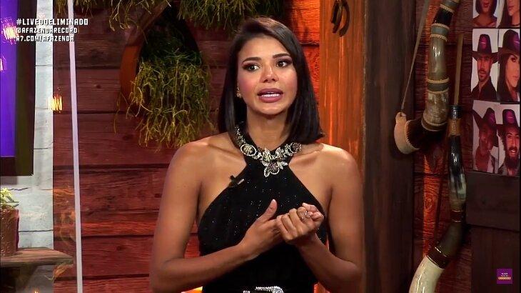 Jakelyne Oliveira criticou Lipe Ribeiro na live do eliminado. Foto: Reprodução