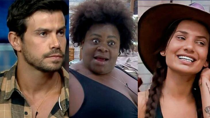 Mariano, Jojo Todynho e Stéfani Bays em momentos em A Fazenda 2020