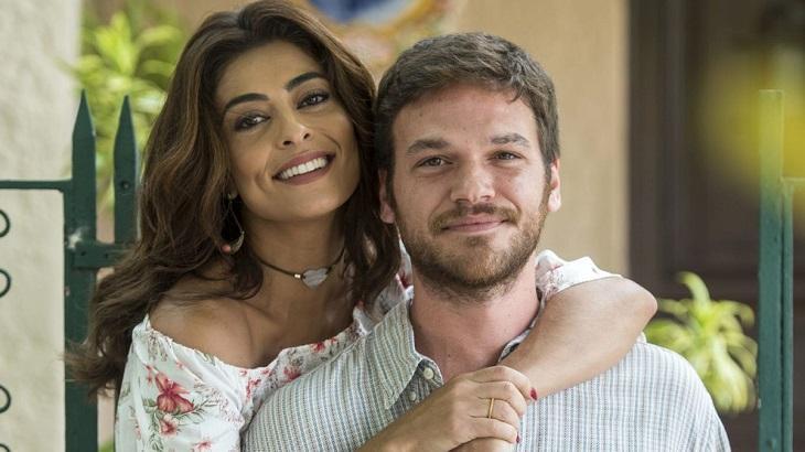 Juliana Paes e Emilio Dantas divulgando A Força do Querer