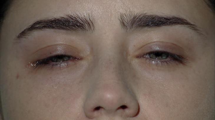 Cena de A Vida da Gente com Ana abrindo os olhos