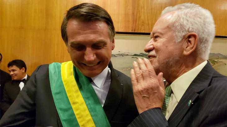 Alexandre Garcia foi um dos convidados para a posse de Jair Bolsonaro - Reprodução
