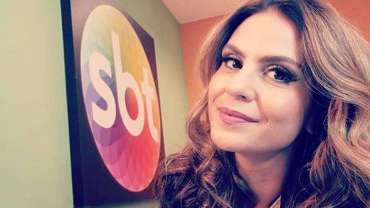 Aline Barros no camarim do SBT - Reprodução/Instagram