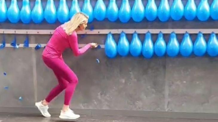 Ana Hickmann supera desafio e bate recorde mundial ao vivo no