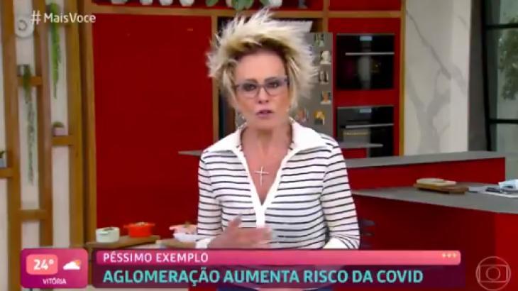 Ana Maria Braga falando no Mais Você