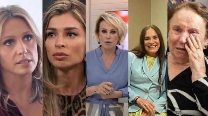 Luísa Mell, Grazi Massafera, Ana Maria Braga, Regina Duarte e Maria do Céu, mãe do Gugu