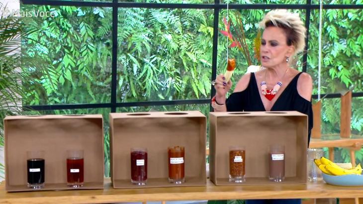 Ana Maria Braga passa mal após experimentar molho de pimenta no Mais Você