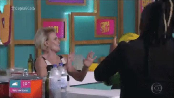 Ana Maria Braga mostra gingado e dança É o Tchan no