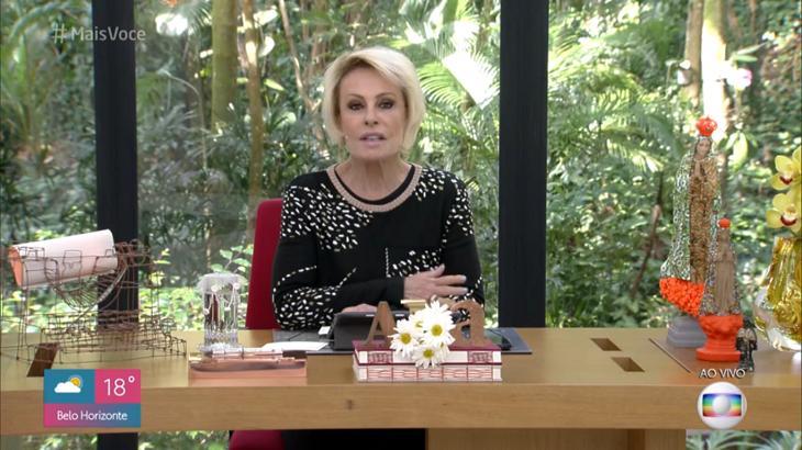 Ana Maria Braga falou sobre Fernanda Young - Foto: Reprodução/Globo