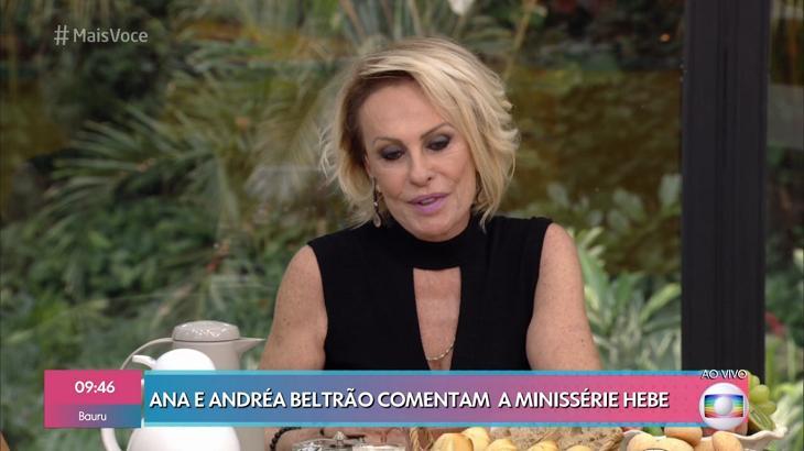 Ana Maria Braga falando sobre Hebe - Foto: Reprodução/Globo