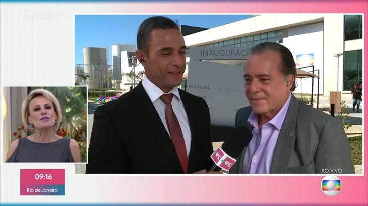 Ana Maria Braga e Tony Ramos conversaram nesta quinta (08) - Foto: Reprodução/Globo