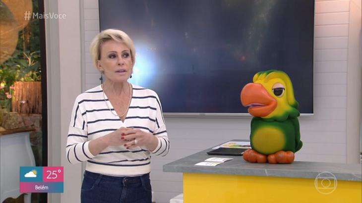 Ana Maria Braga deixou o microfone desligado - Foto: Reprodução/Globo