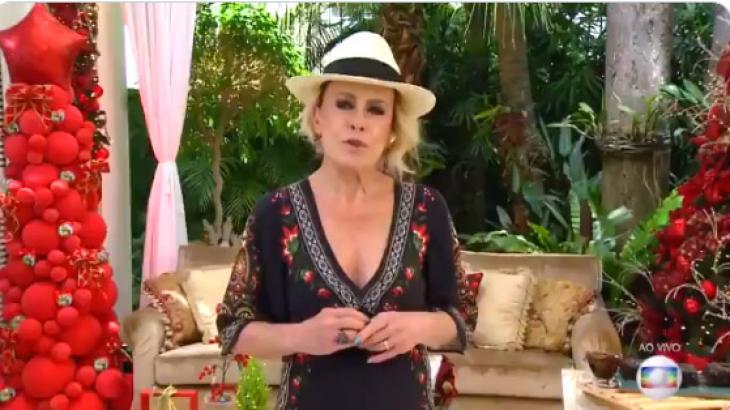 Ana Maria no Mais Você de chapéu