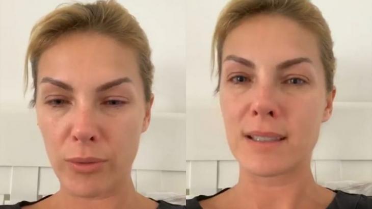Com sintomas, Ana Hickmann chora ao revelar suspeita de coronavírus