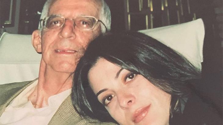 Ana Paula Padrão ao lado do pai, Fausto - Reprodução/Instagram