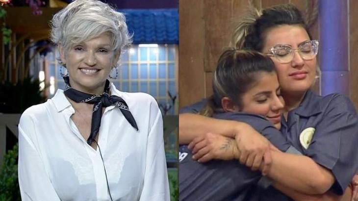 Andréa Nóbrega fala sobre roça entre Thayse Teixeira e Hariany Almeida no reality show A Fazenda 2019 (Reprodução/Montagem)