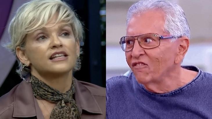Andréa Nóbrega e Carlos Alberto de Nóbrega foram casados por 20 anos. (Reprodução/RecordTV/SBT/Montagem)