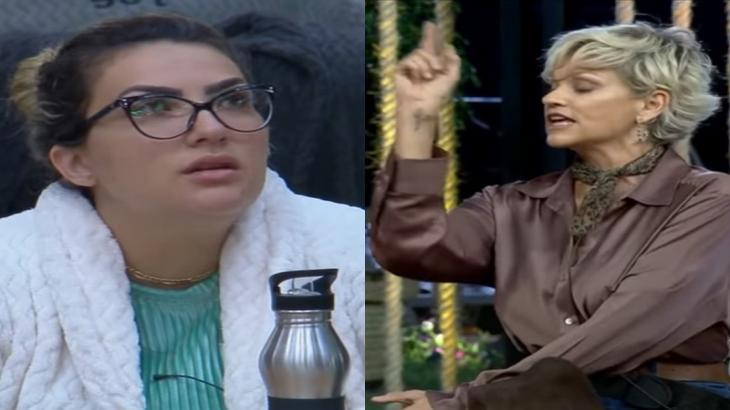Thayse Teixeira e Andréa Nóbrega estão em rixa no reality show A Fazenda 2019. (Reprodução/RecordTV/Montagem)