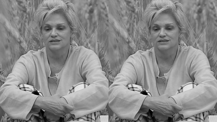 Andréa Nóbrega durante o reality show A Fazenda 2019 (Reprodução/Montagem)