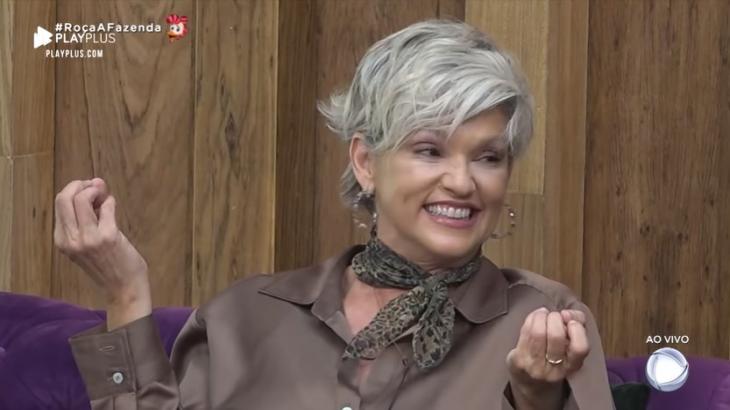 Andréa Nóbrega durante o reality show A Fazenda 2019 (Reprodução)