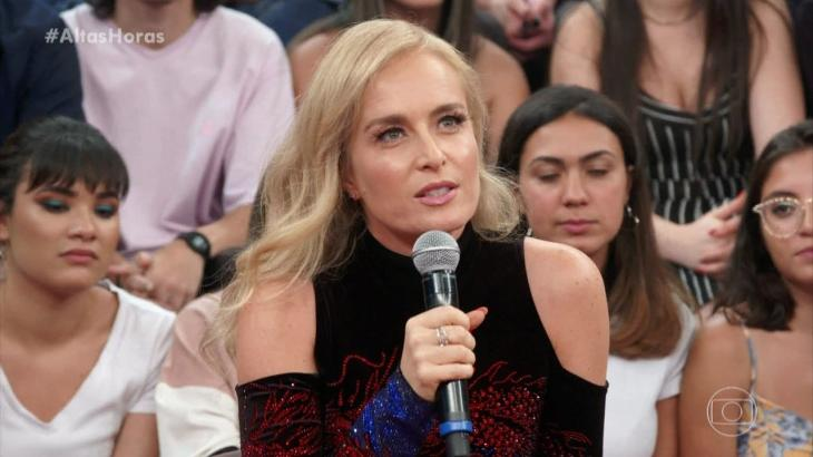 A apresentadora Angélica revelou atrito com taxista ao pegar carro de aplicativo. (Reprodução/TV Globo)