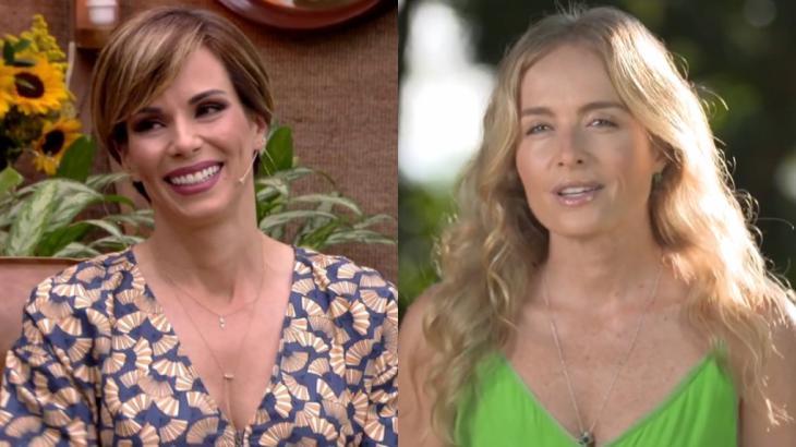 Ana Furtado conteve as lágrimas após carta de Angélica direcionada à filha, Eva - Fotos: Reprodução/Globo