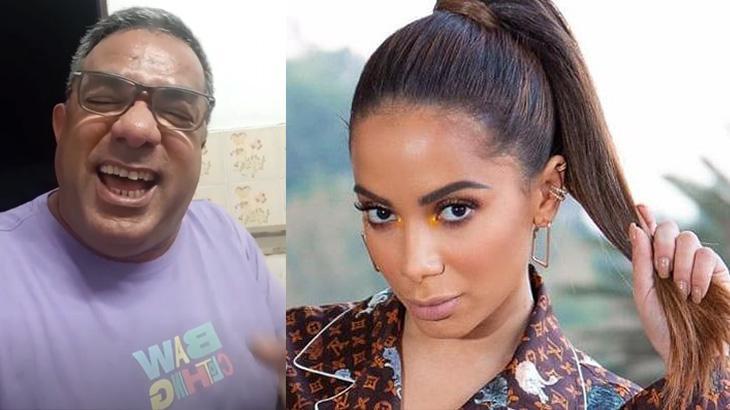 Pai de Anitta diz que demorava 40 minutos para desenrolar cabelo da filha: