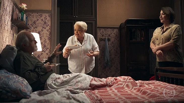 """""""A Dona do Pedaço"""": Antero pede Evelina em casamento e causa o maior climão"""