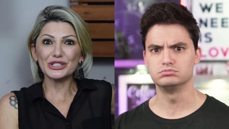 Os apresentadores Antonia Fontenelle e Felipe Neto