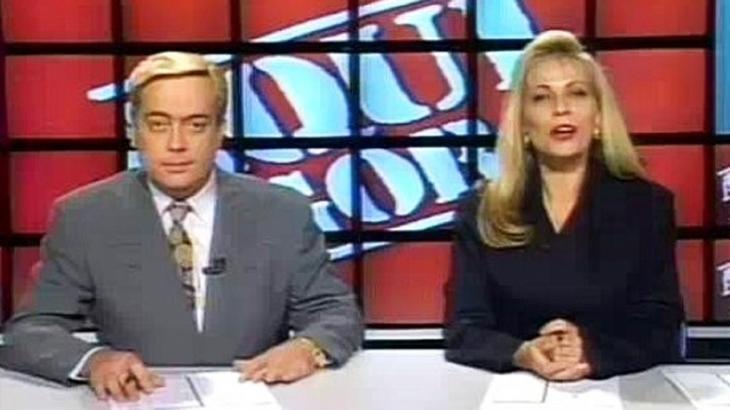 Ivo Morganti e Christina Rocha apresentaram o Aqui Agora (Foto: Reprodução/SBT)