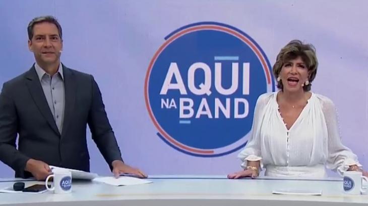 Luís Ernesto Lacombe e Silvia Poppovic no Aqui na Band nesta segunda - Reprodução/TV Bandeirantes