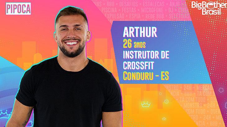 O instrutor de Crossfit Arthur tem 26 anos e é de Conduru, no Espírito Santo