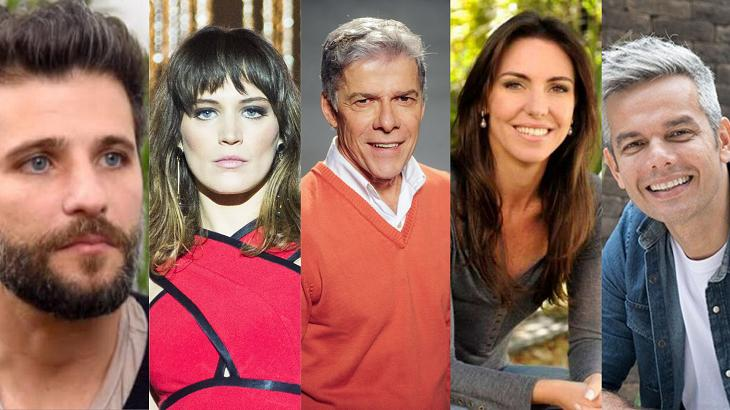 Bruno Gagliasso, Bianca Bin, José Mayer, Glenda e Otaviano Costa