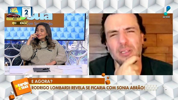 Sonia Abrão e Rodrigo Lombardi