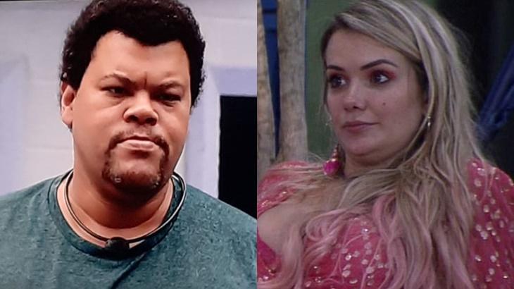 Marcela disse ter carinho no Babu Santana no BBB20 - Foto: Globo/Montagem