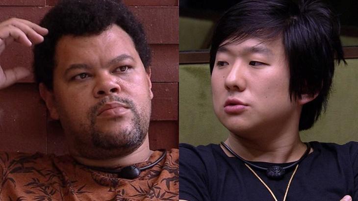Babu Santana e Pyong Lee durante o BBB20