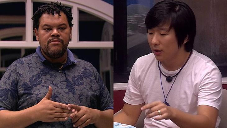 Pyong Lee virou alvo de conversa entre Babu Santana e Felipe Prior no BBB20
